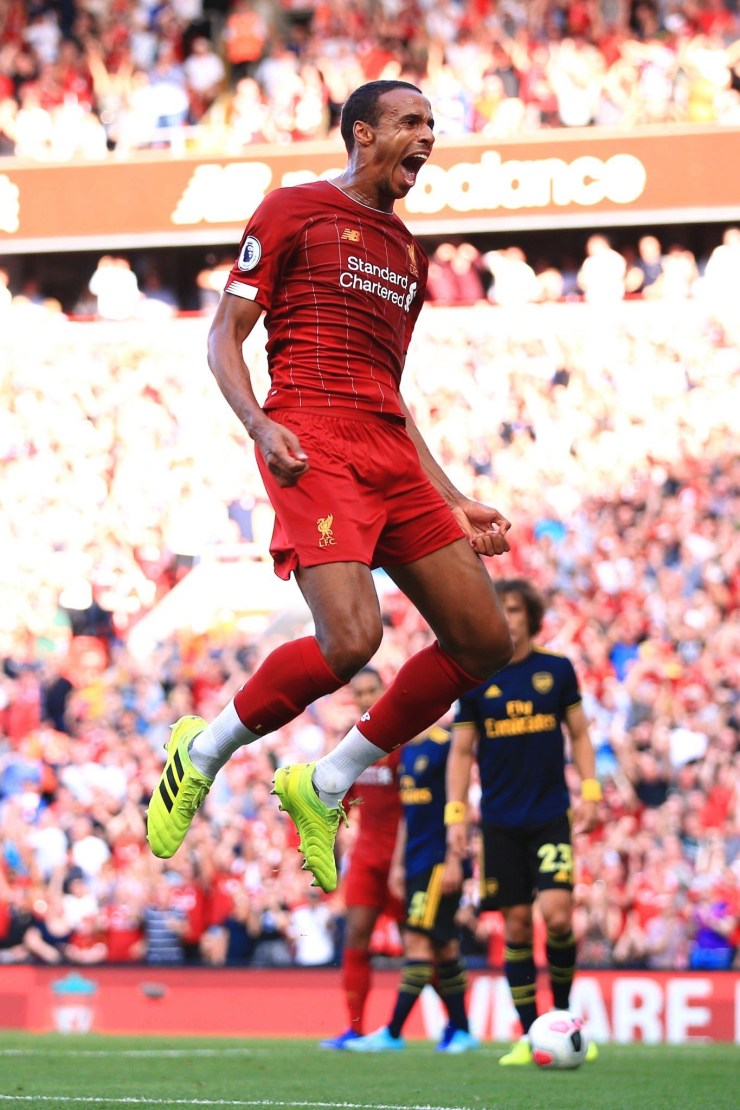Mohammed Salah scored twice as Liverpool trashed Arsenal at Anfield