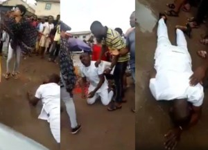 Man breaks down in tears and rolls in the mud after his girlfriend rejected his marriage proposal in Imo with video