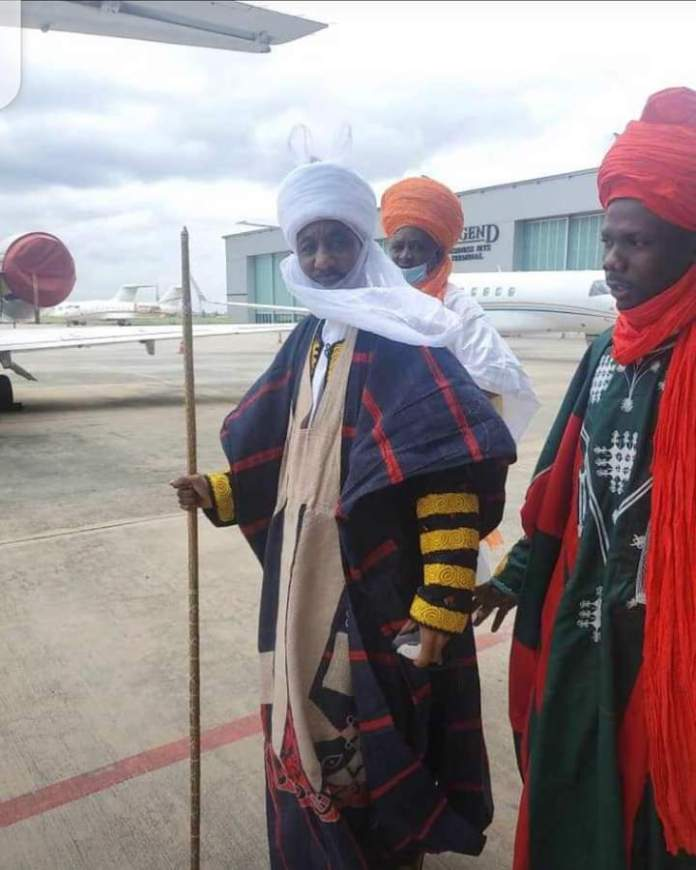 PHOTO NEWS: FORMER KANO EMIR SANUSI DEPARTS NIGERIA