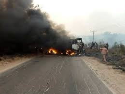 Eight burnt to death in Lagos-Ibadan expressway accident