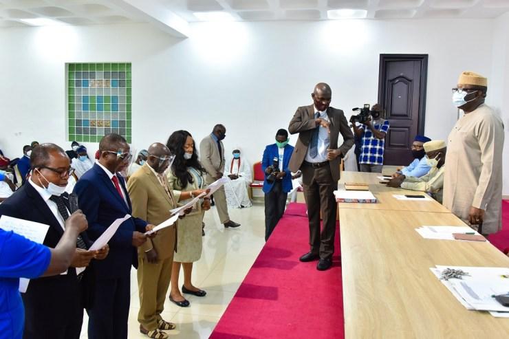 Gov Fayemi with new Permanent Secretaries