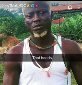 Nigerian pornstar, Kingtblakhoc reportedly arrested for using Ifa worshippers' item to shoot a porn movie