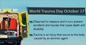 World Trauma Day: Over 6 million people die from traumatic injuries annually