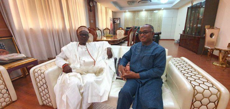 PHOTONEWS: Olusin of Ijara Isin visits KAM Holding boss, Kamoru Yusuf