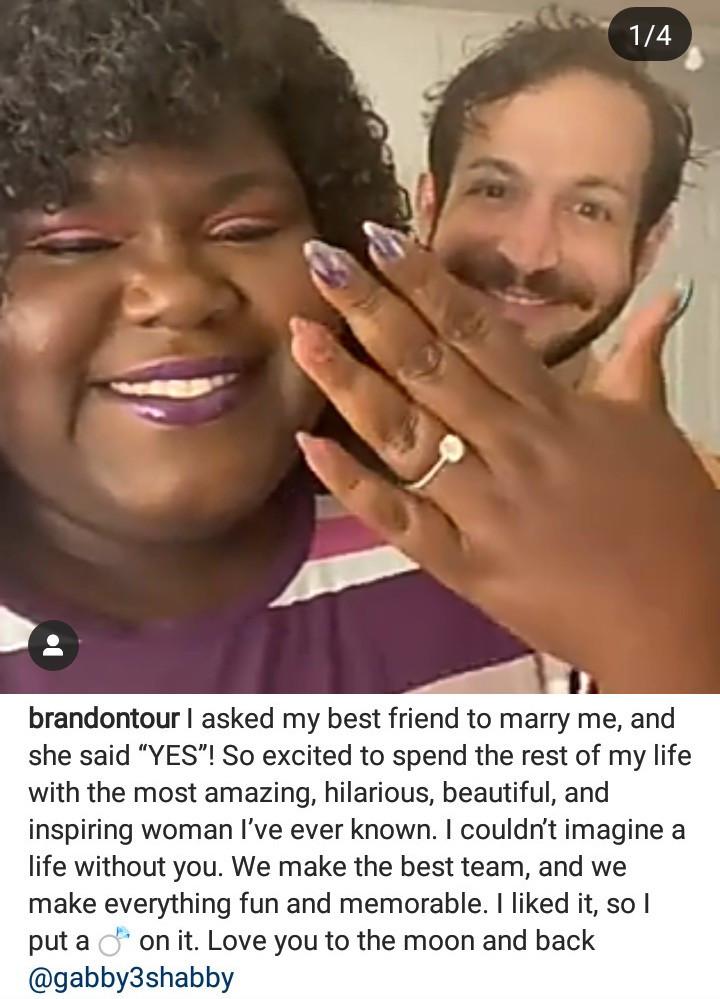 Empire star, Gabourey Sidibe engaged to boyfriend Brandon Frankel (video/photos)