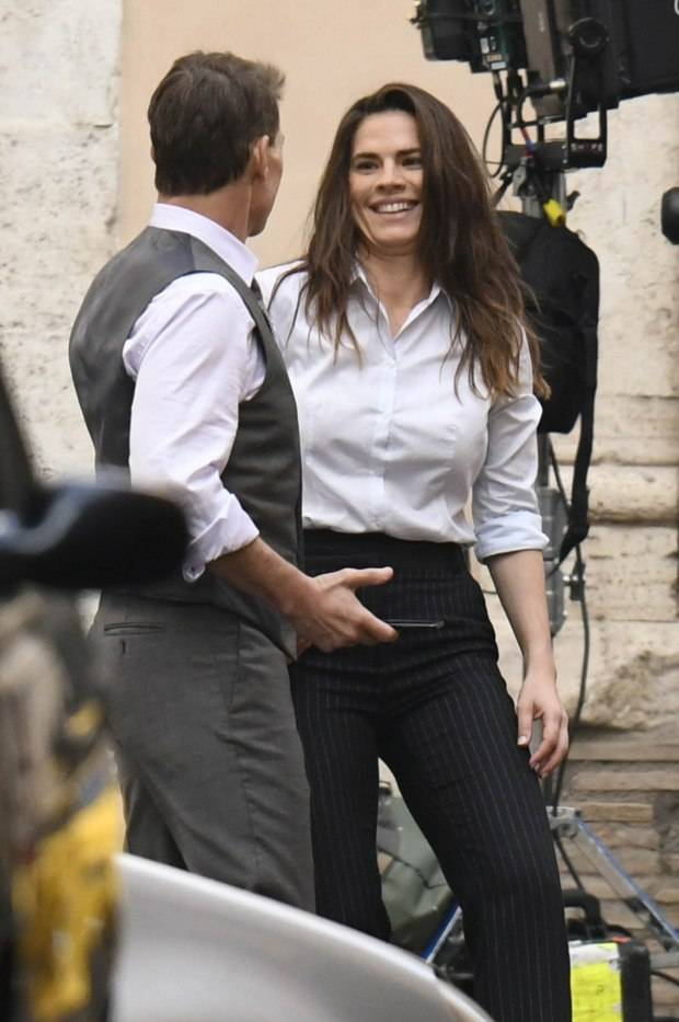 Actor Tom Cruise, 58, reportedly dating Mission: Impossible 7 co-star Hayley Atwell, 38, after 'filming brought them closer' (photos)