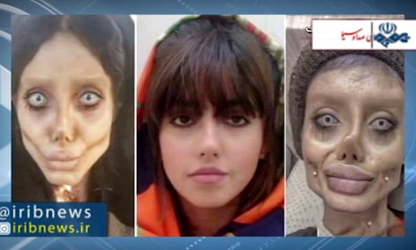 Angelina Jolie 'lookalike' Sahar Tabar jailed for 10 years in Iran for posting distorted pictures of herself online