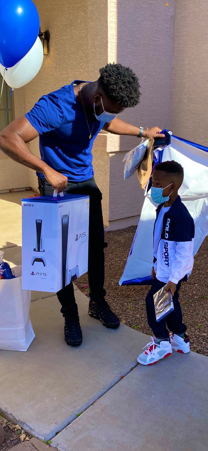 Nigerian dad buys his 6-year-old son PS5 on his birthday for beating cancer twice during the COVID-19 pandemic (photos)