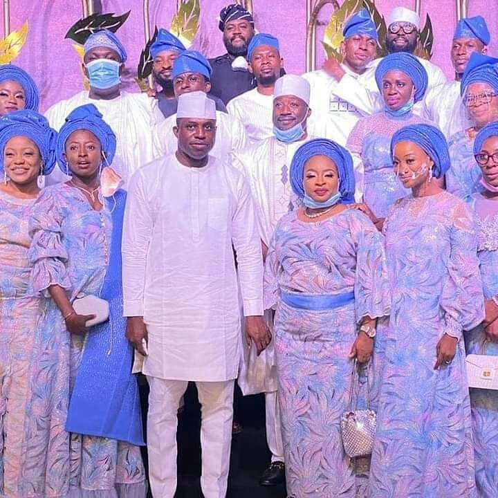 Photos from the wedding of ex-Speaker Dimeji Bankole to Kebbi state governor's daughter