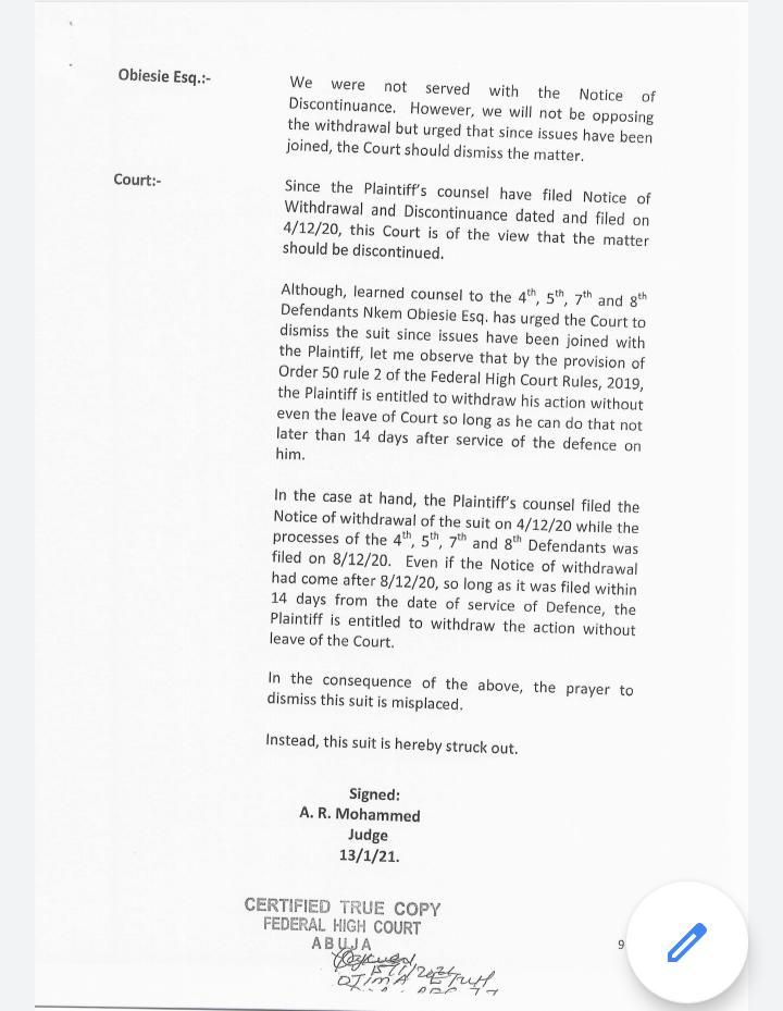NDDC: Abuja court reinstates Pondei-led IMC