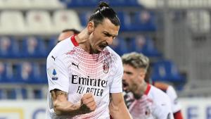 Ibrahimovic scores twice as leaders AC Milan ease past Cagliari
