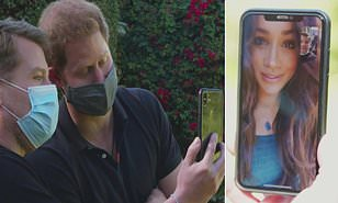 Meghan Markle joins Prince Harry and James Corden on video call during tell-all interview then calls Harry a sweet pet name (video)
