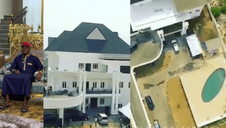 Nigerian footballer, Emmanuel Emenike shares video of his massive mansion in Owerri (watch)
