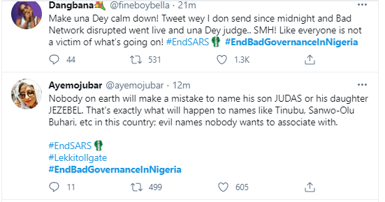'They sit down to negotiate with Northern bandits but arrest peaceful protesters' - Nigerians react to the arrest of protesters at Lekki Toll Gate