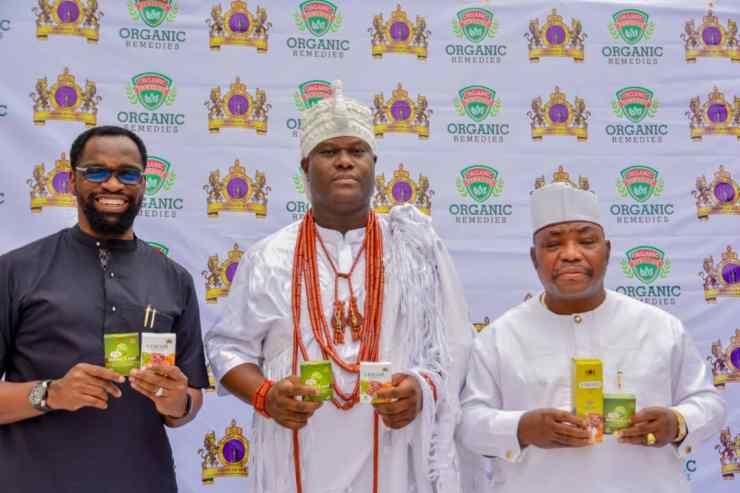 Nigeria has best herbs, says Ooni as he unveils Anti-COVID-19 drugs