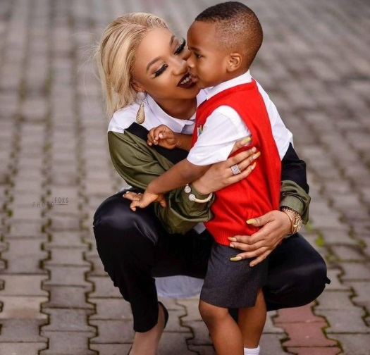 Tonto Dikeh gifts her son, King Andre, a STAR on his 5th birthday after running out of gift ideas