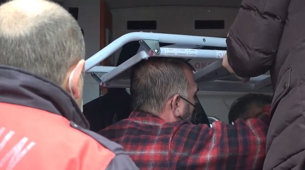 Man seen with ladder sticking out of his head after he impaled himself while doing renovations at home
