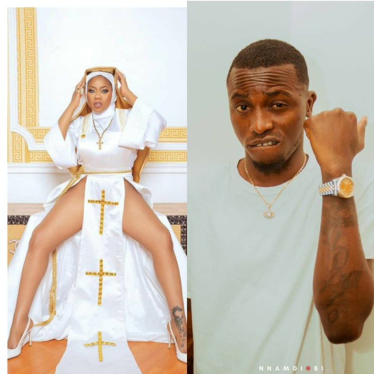 """""""Let this be the last time you will disrespect our religion""""- Davido's former PA, Aloma warns fashion entrepreneur, Toyin Lawani, over her racy nun outfit"""