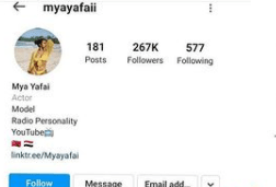 Davido's alleged new girlfriend, Mya Yafai deletes all her photos and deactivates her Instagram account after photos of her kissing the singer went viral