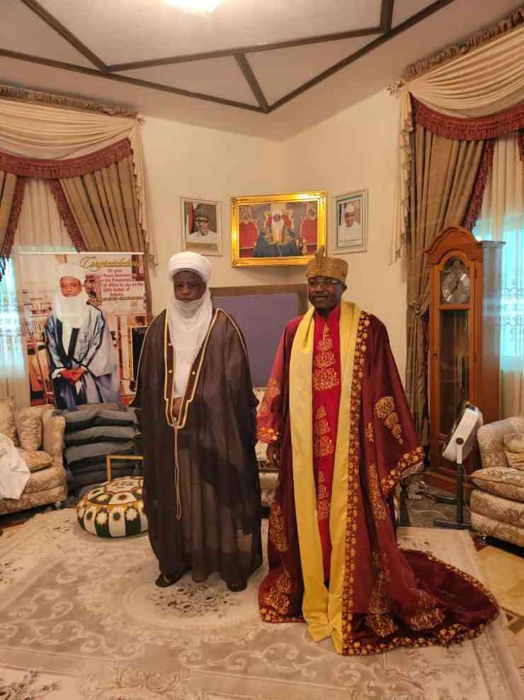 Oluwo of Iwo visits Sultan Sa'ad Abubakar in Sokoto