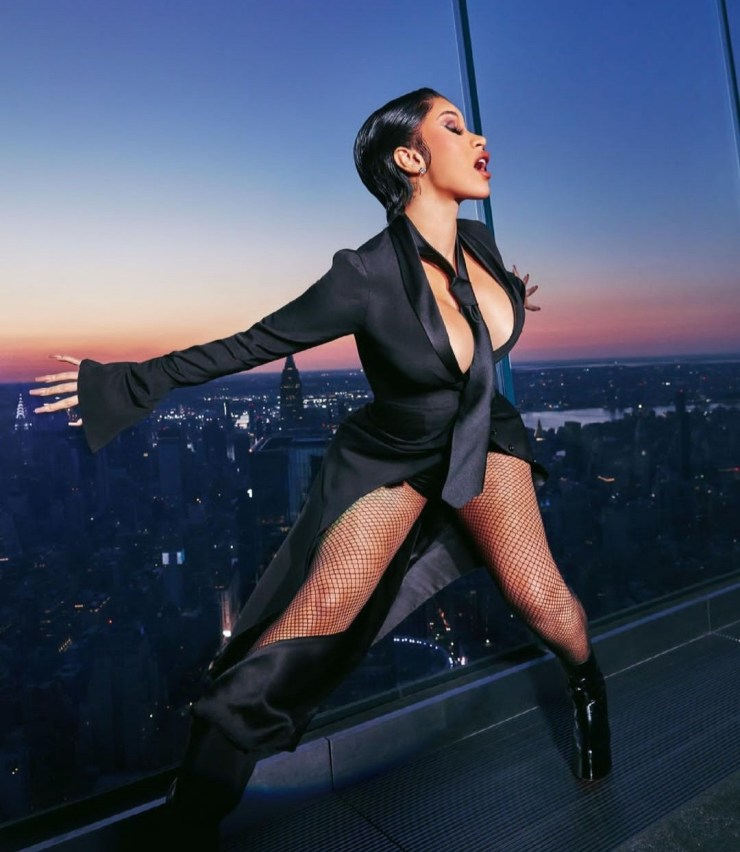 Cardi B posses braless for XXL magazine