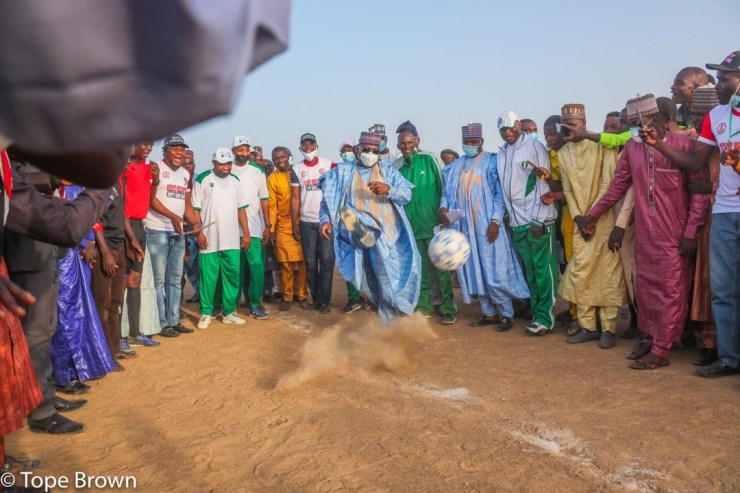 Senate President shines at soccer finals in Yobe