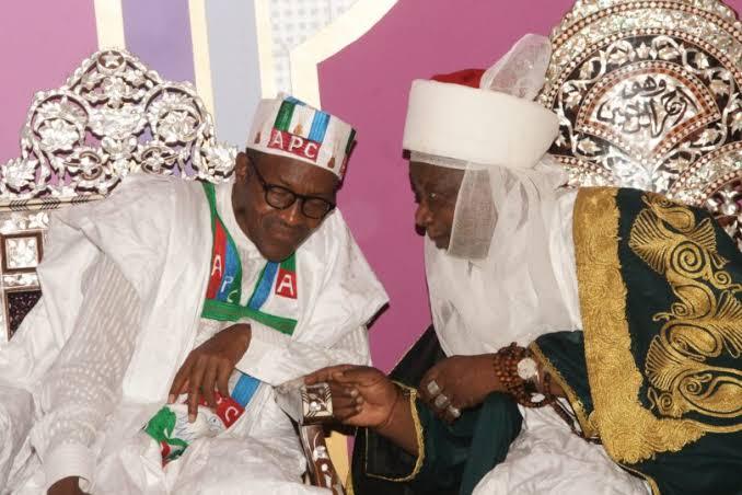 Buhari greets Emir Sulu-Gambari at 81