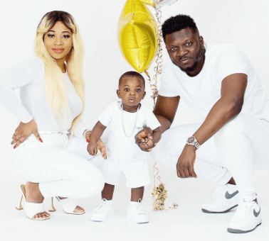 Rapper, Base One shares lovely new family photos as his son, Sean, turns one