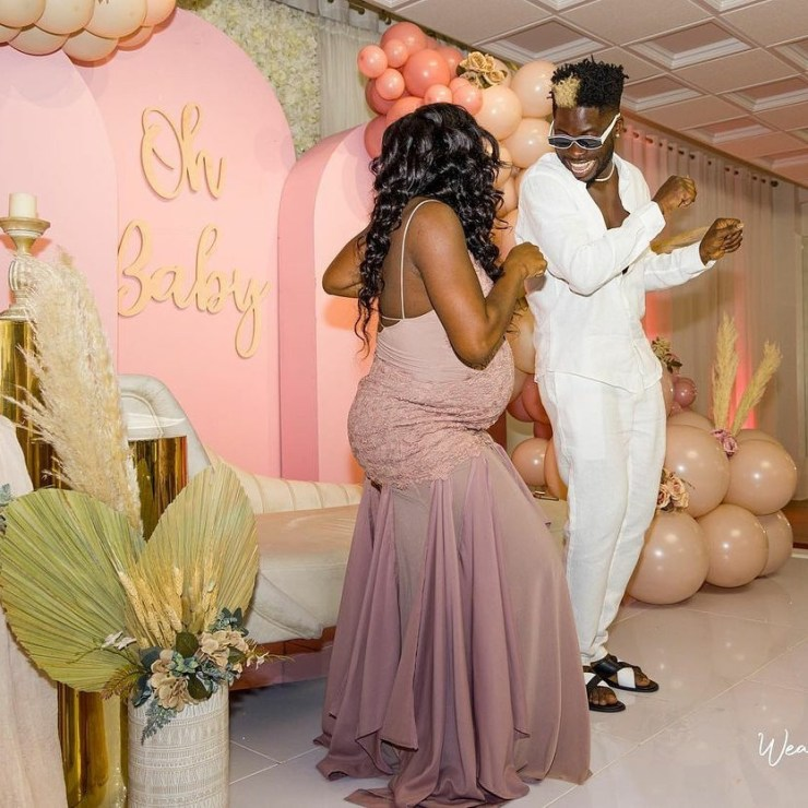 Photos from the baby shower of Davido's DJ, Ecool and his partner, Joyce