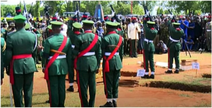 Buhari absent at burial of COAS, other military officers