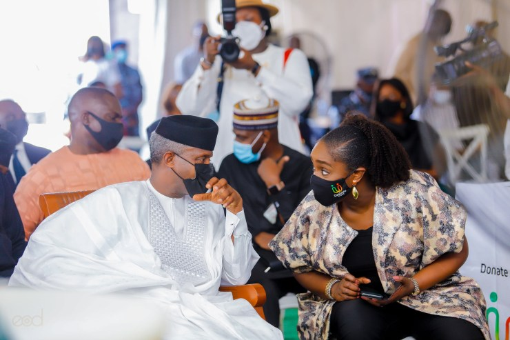 Ex-minister Kemi Adeosun spotted years after being forced to resign
