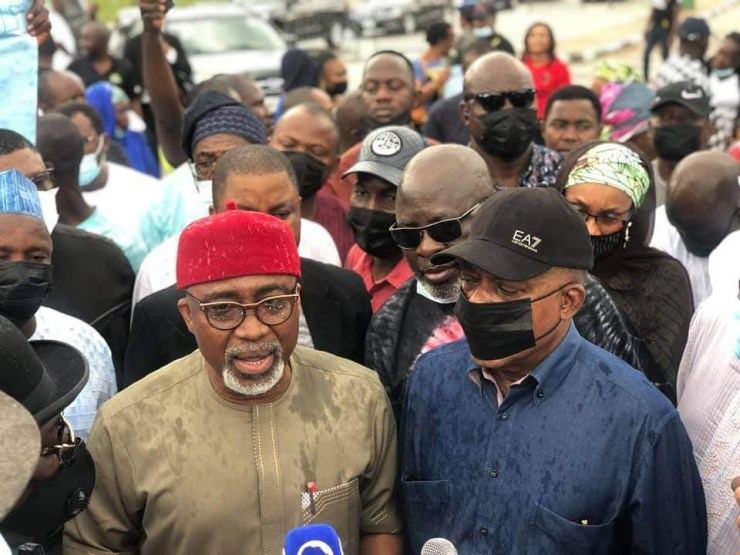 PDP stages protest to oppose confirmation of Lauretta Onochie as INEC Commissioner