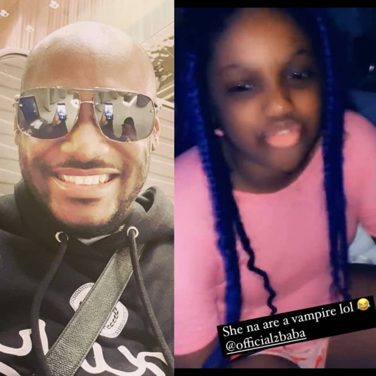 ''Are you a vampire? You would be looking as if you are 19 years old''- 2face Idibia's daughter comments on her father's 'forever young' look