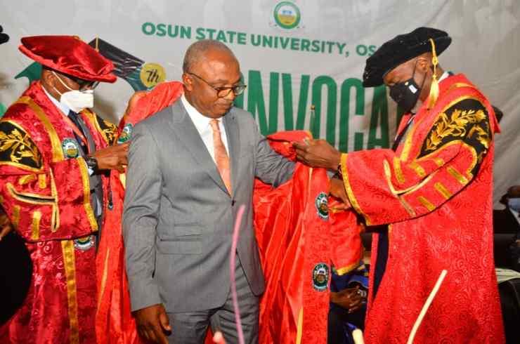 BREAKING.....KAM Holding CEO, Kamoru Yusuf finally decorated with UniOsun PhD honours (PHOTOS)
