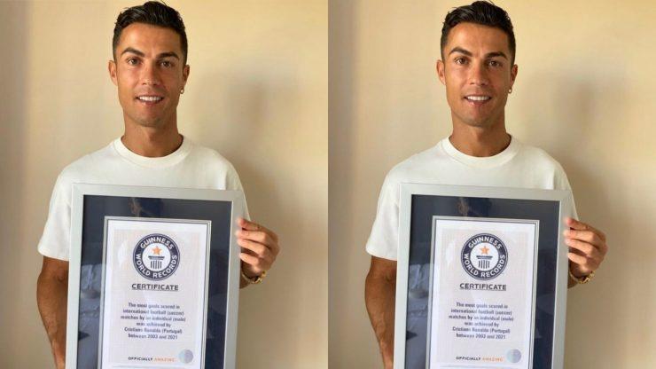Cristiano Ronaldo gets Guinness World Records