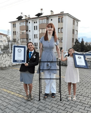 Guinness World Records crowns 24-year-old woman over 7ft as 'tallest woman in the world'