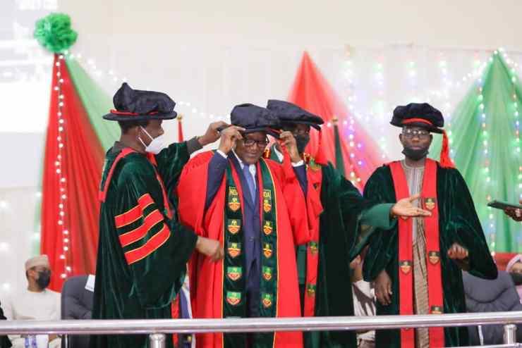 NDA confers honourary PhD on Dangote, 2 others