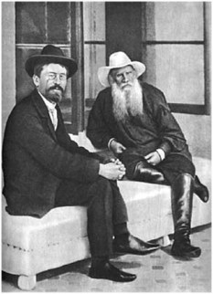 Chekhov and Tolstoy at Yasnaya Polyana