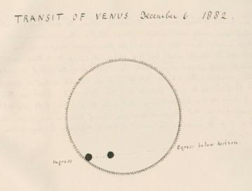 Il transito di Venere, 1882 (MS/117/6)