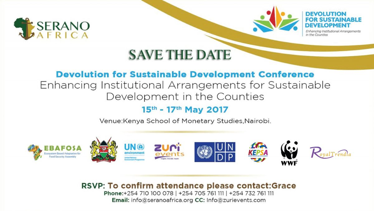 Serano Africa: First Annual Devolution for Sustainable Development Conference