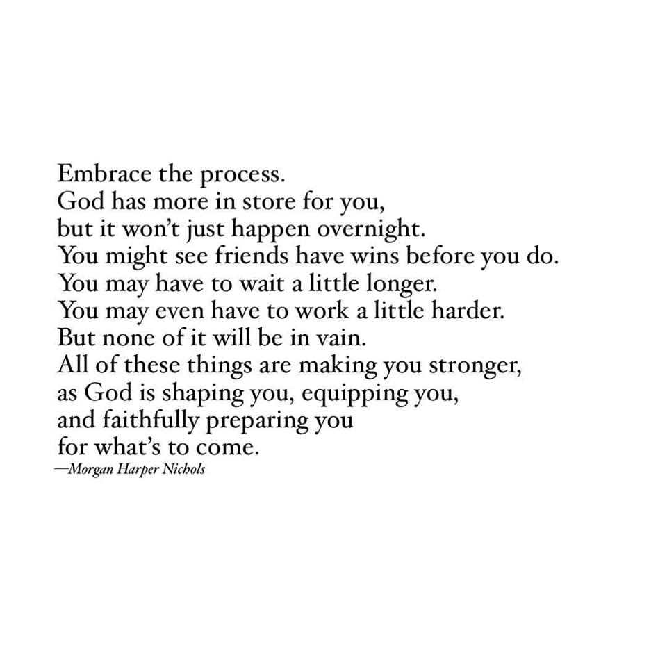 embrace the process quotes, enjoy the process, trust the process, embrace meaning