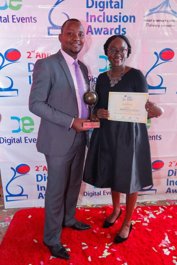 ESET East Africa awarded Cyber Security Company Of The Year at the 2nd Annual Digital Inclusion Awards. Teddy Njoroge, Channel Manager for ESET East Africa