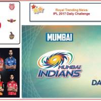 IPL 2017 – Daily Challenge : Match 25:  Mumbai Indians Vs Delhi Daredevils