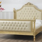 Imperial French Baroque Style Carving Bed Brand Royalzig