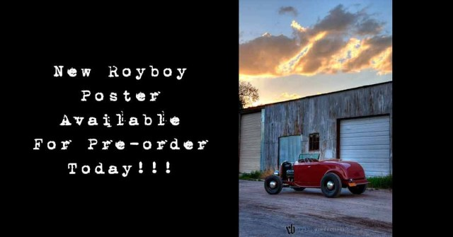 The newest Royboy Poster is now available as a pre-order until the end of March. Order now to save 33% and get free shipping! Click here for more details and to order!