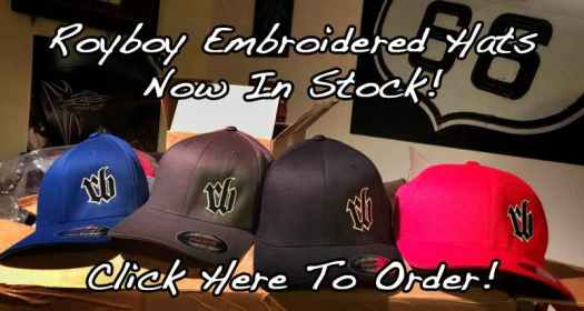 New Royboy Productions Embroidered Flexfit Hats are now in stock! Click here to order yours!