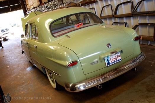 1 clean 1950 Ford 4 Door.