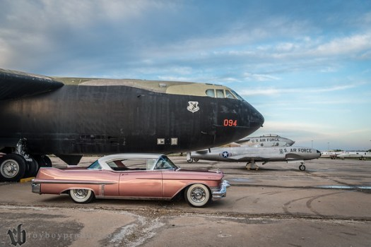 2016; Starliner; 086; HDR Mark and his Caddy next to the B-52-D