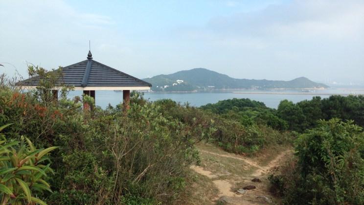 Pavilion and Hai Ling Chau island, Stage 12, Lantau Trail