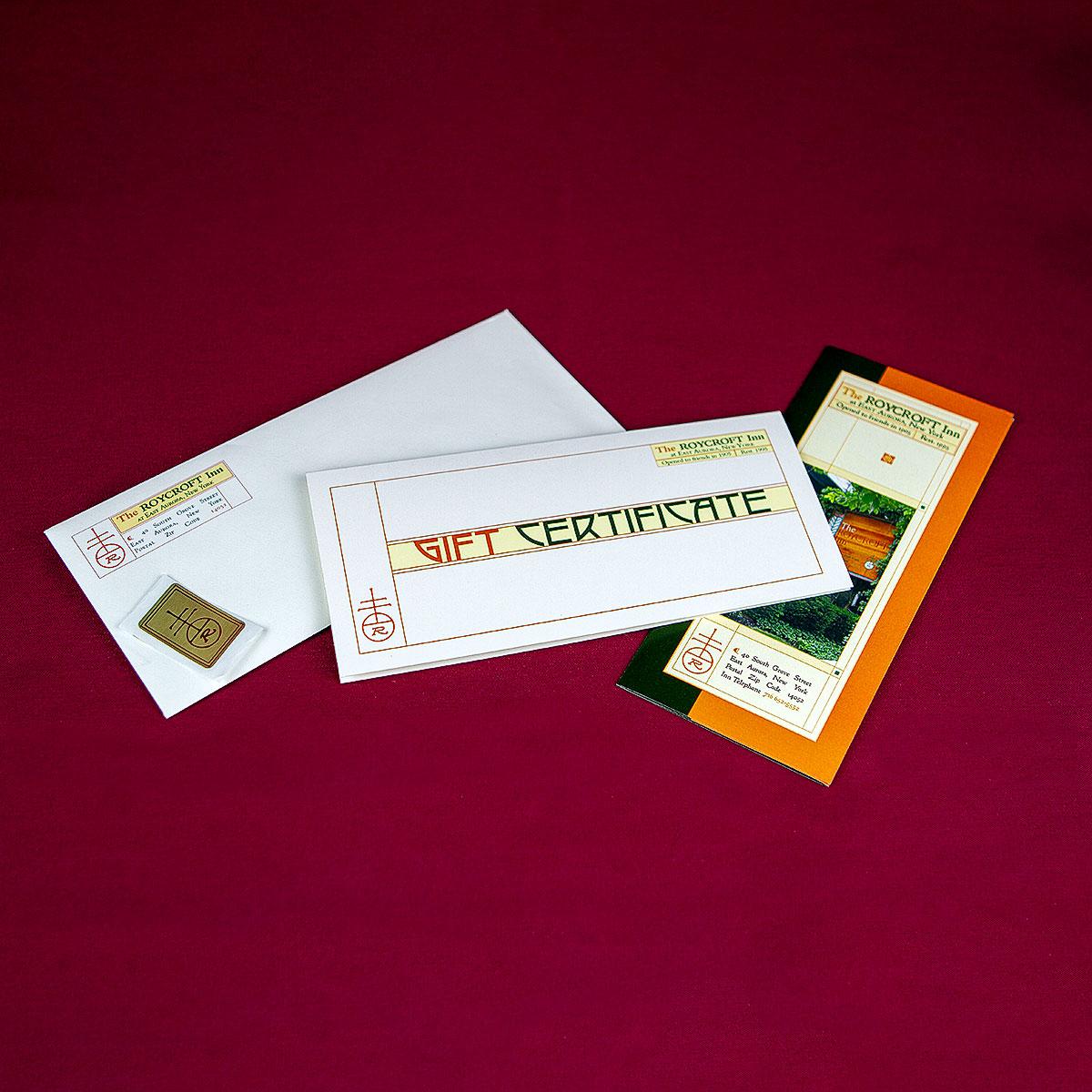 Roycroft Inn Gift Certificate